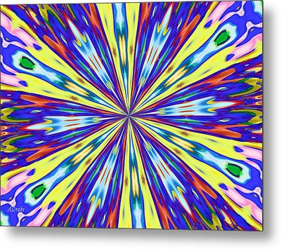 Metal Print featuring the digital art Rainbow In Space by Alec Drake