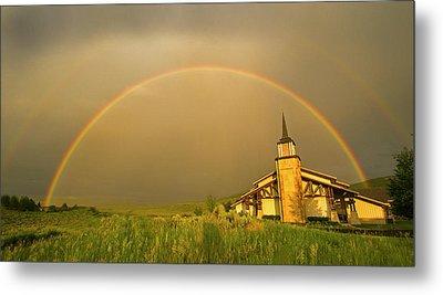 Rainbow In Stormy Sky Metal Print by Tom Kelly Photo