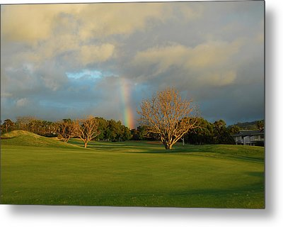 Metal Print featuring the photograph Rainbow Over Princeville by Lynn Bauer