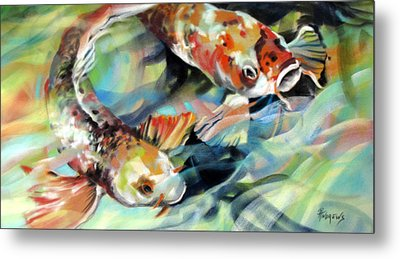 Metal Print featuring the painting Rainbow Patterns by Rae Andrews