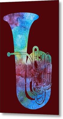 Rainbow Tuba Metal Print by Jenny Armitage