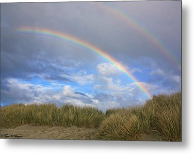 Rainbows Over The Sand Metal Print by Tyra  OBryant