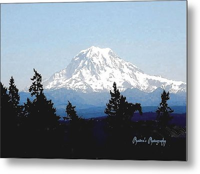 Metal Print featuring the photograph Rainier Reign by Sadie Reneau