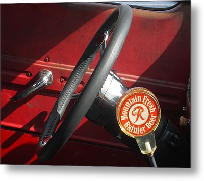 Rainier Stick Shift  Metal Print by Kym Backland