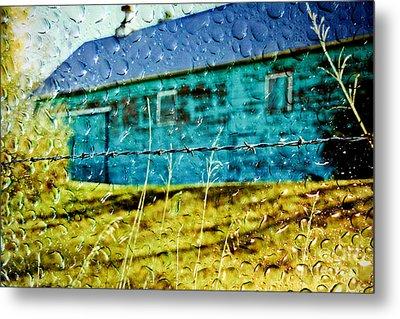 Rainy Barn Metal Print by Jill Hyland