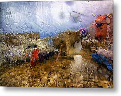 Rainy Day Abstract 3 Metal Print by Madeline Ellis
