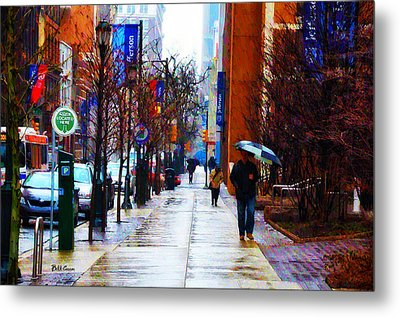Rainy Day Feeling Metal Print by Bill Cannon