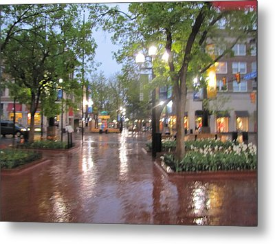 Metal Print featuring the photograph Rainy Evening In Boulder by Shawn Hughes