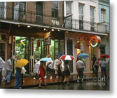 Rainy Evening On Bourbon Street  Metal Print by Thomas R Fletcher