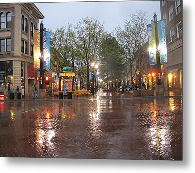 Metal Print featuring the photograph Rainy Night In Boulder by Shawn Hughes