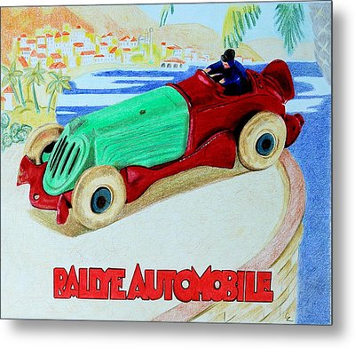 Rallye Automobile Metal Print by Glenda Zuckerman