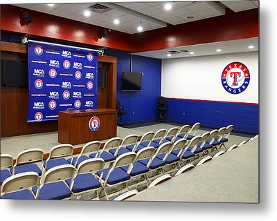 Rangers Press Room Metal Print by Ricky Barnard