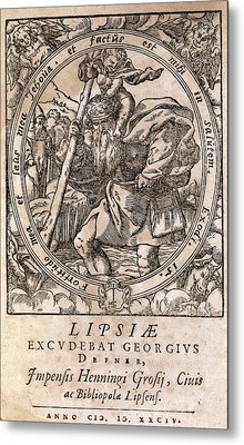 Rantzau's Astrology Book, 1584 Edition Metal Print by Middle Temple Library