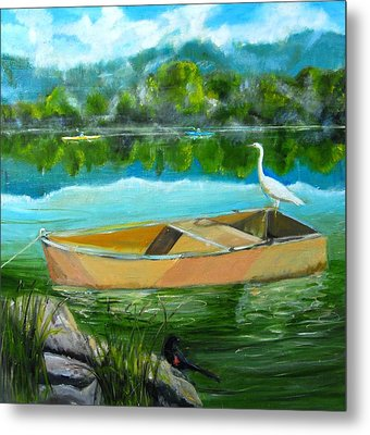 Rare Moment At Spring Lake Metal Print by Terrence  Howell