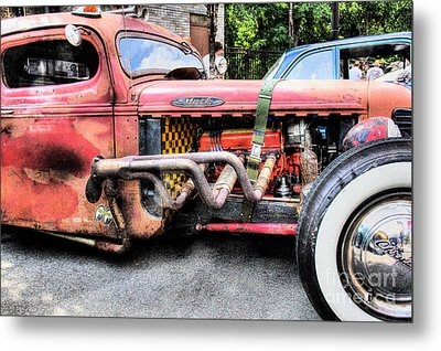 Ratrod Rust Metal Print by Tony  Bazidlo