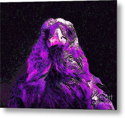 Raven In Van Gogh.s Dream . V2 . 40d9097 Metal Print by Wingsdomain Art and Photography