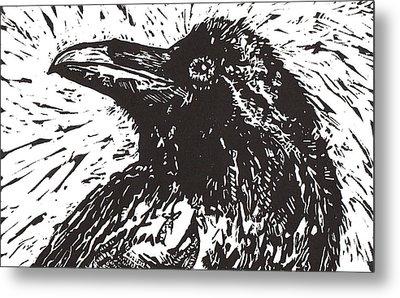 Raven Metal Print by Julia Forsyth