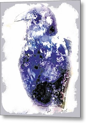 Raven Metal Print by The Art of Marsha Charlebois