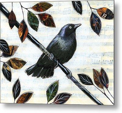 Raven Melody Metal Print by Amy Giacomelli