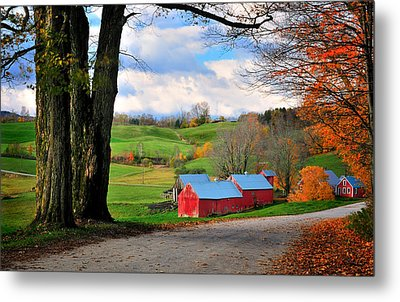 Reading Vermont - Jenne Road Metal Print by Thomas Schoeller