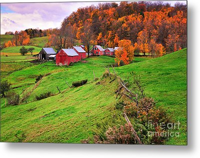 Reading Vermont Scenic Metal Print by Thomas Schoeller