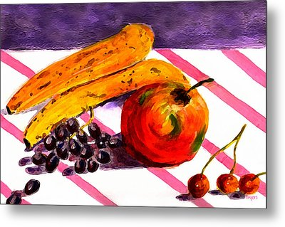 Metal Print featuring the painting Ready-to-eat by Paula Ayers