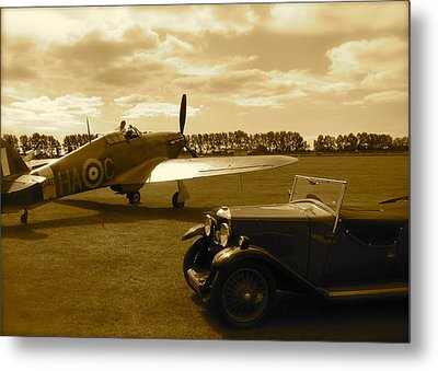 Metal Print featuring the photograph Ready To Scramble - Spitfire by John Colley