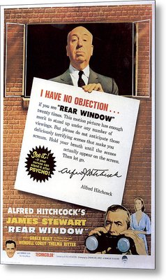 Rear Window, Alfred Hitchcock, James Metal Print