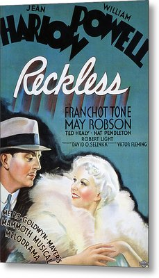 Reckless, William Powell, Jean Harlow Metal Print by Everett