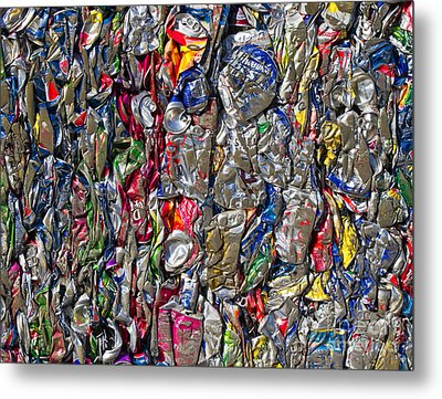 Recycled Aluminum Cans Metal Print by David Buffington