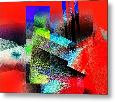 Red Abstract 1 Metal Print by Anil Nene