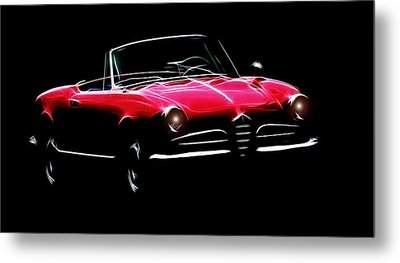 Red Alfa Romeo 1600 Giulia Spider Metal Print by Steve K