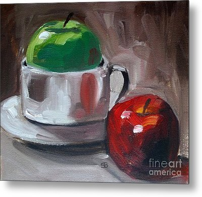 Red And Green Apples Metal Print by Samantha Black
