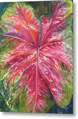 Metal Print featuring the painting Red And Wet by AnnaJo Vahle
