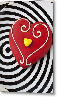 Red And Yellow Heart Metal Print by Garry Gay