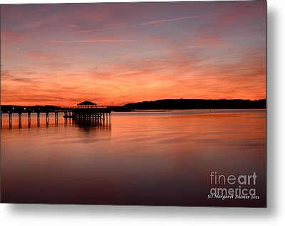 Red Autumn Sky Metal Print by Margaret Palmer