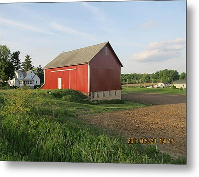 Metal Print featuring the photograph Red Barn Four by Tina M Wenger