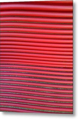 Red Bench Metal Print by Karl Reid