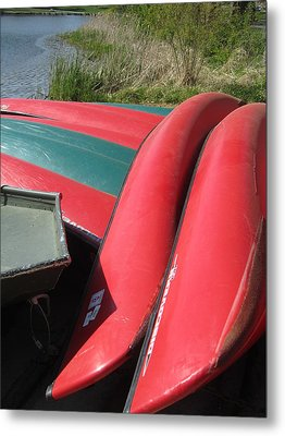 Red Boats Metal Print by Todd Sherlock