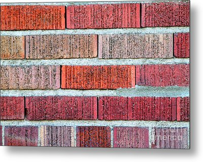 Red Brick Wall Metal Print