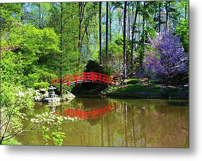 Metal Print featuring the photograph Red Bridge by Bob Whitt