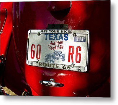 Red Bug Metal Print by Frank SantAgata