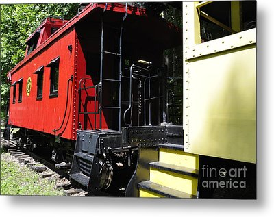 Red Caboose Metal Print by Thomas R Fletcher