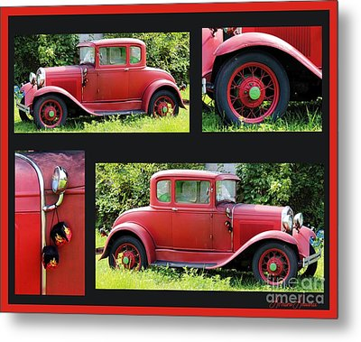 Red Car Metal Print by Lorraine Louwerse