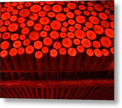 Red Circle Sticks Metal Print by Kym Backland