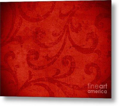 Red Crispy Oriental Style Decor For Fine Design. Metal Print by Marta Mirecka