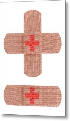 Red Cross Bandages Metal Print by Blink Images