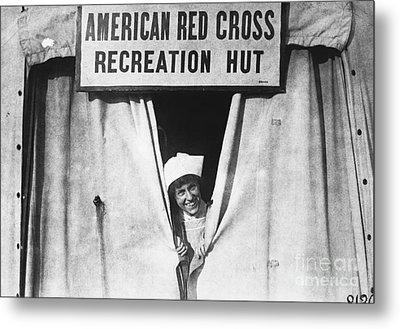 Red Cross Nurse, 1918 Metal Print by Photo Researchers