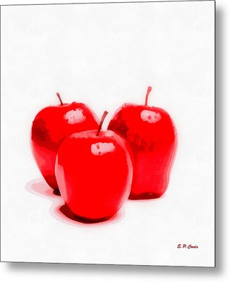 Red Delicious Apples Metal Print by Elizabeth Coats