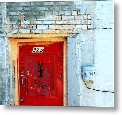 Red Door 325  Metal Print by Steven Milner